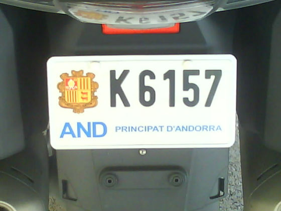 andorra licence plate