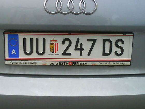 austria licence plate