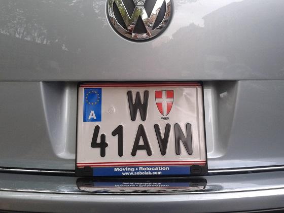 austria license plate