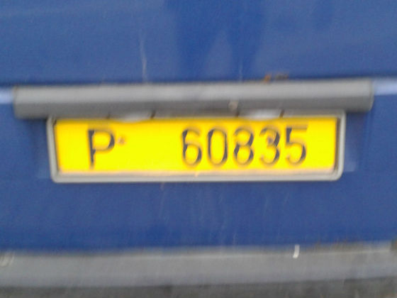belarus licence plate
