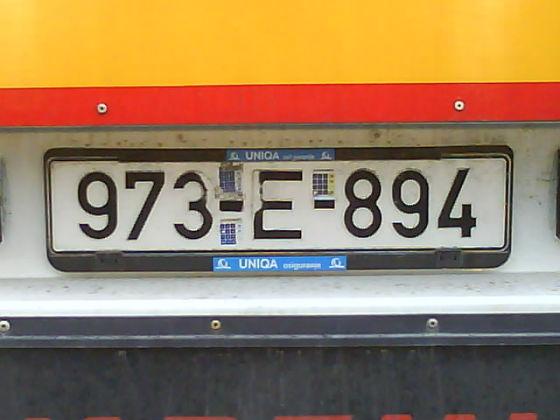 bosnia licence plate