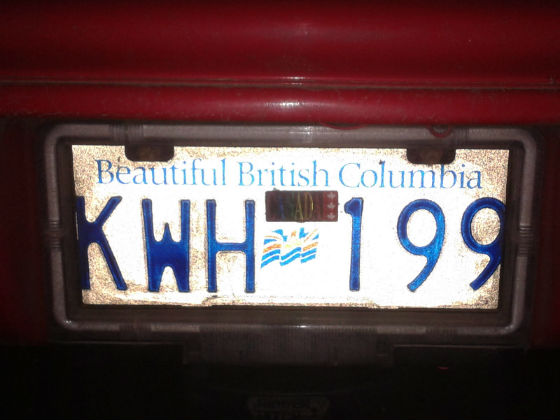 canada licence plate