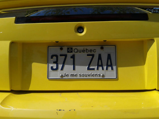canada quebec license plate