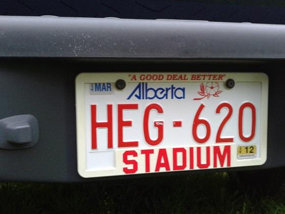canada alberta license plate
