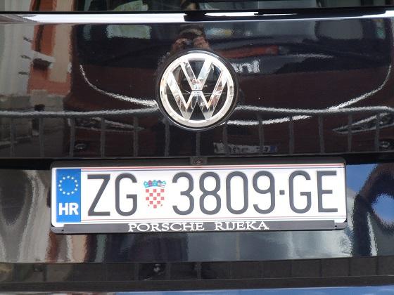 croatia license plate