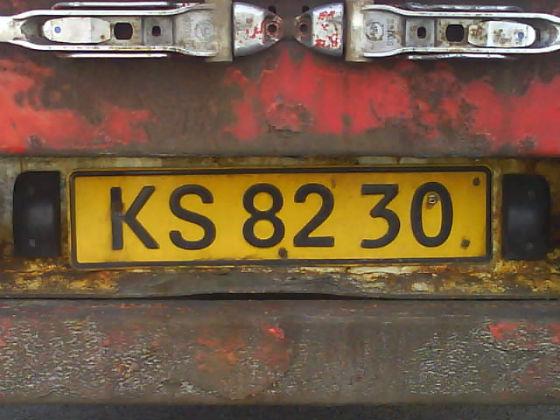 denmark licence plate