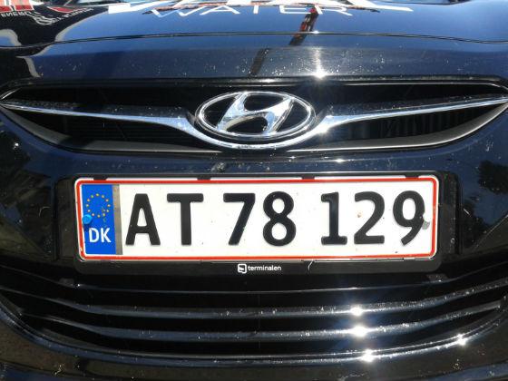 denmark license plate