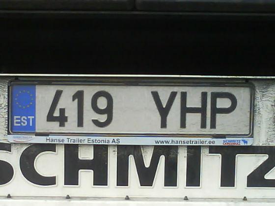 estonia licence plate