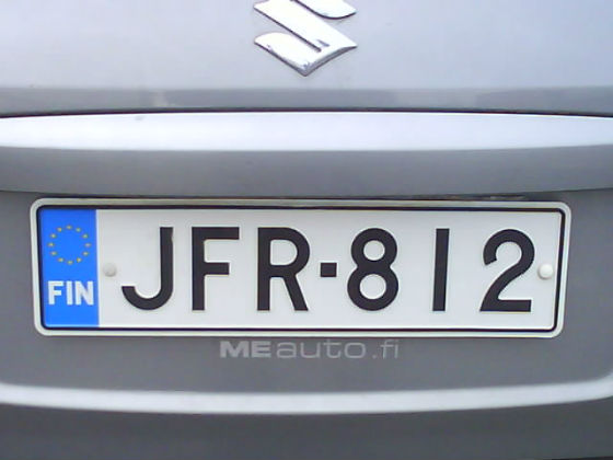 finland licence plate