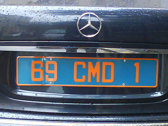 france licence plate