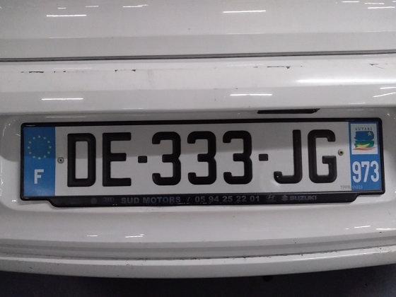 french guiana license plate
