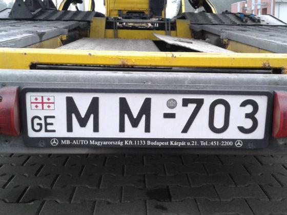 georgia licence plate