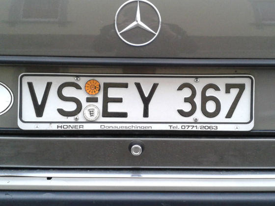 germany licence plate