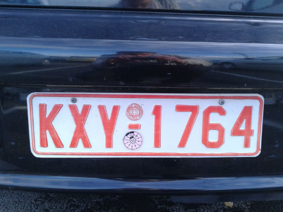 greece licence plate