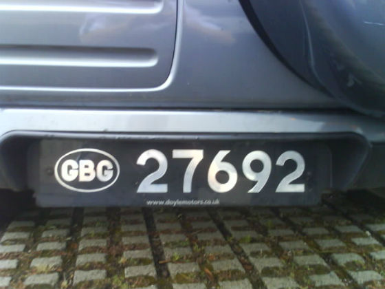 guernsey licence plate