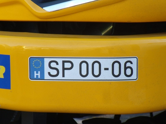 hungary license plate