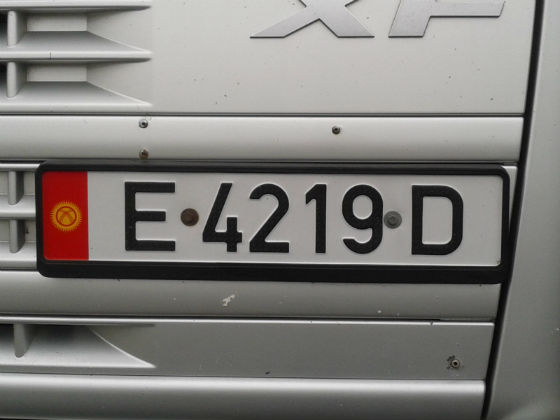 kyrgyzstan licence plate