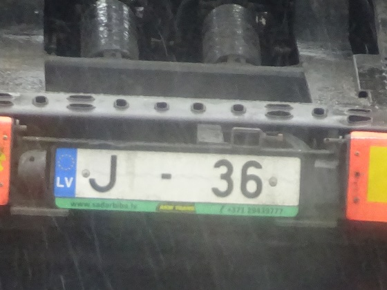 latvia license plate