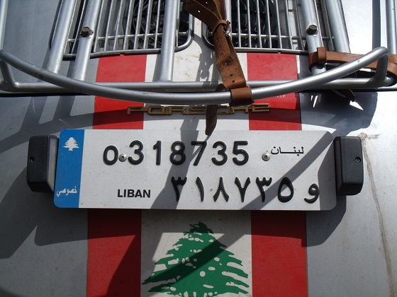 lebanon license plate