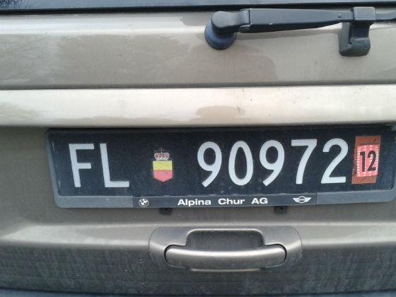 liechtenstein licence plate