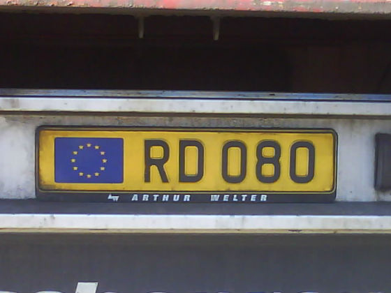 luxemburg licence plate