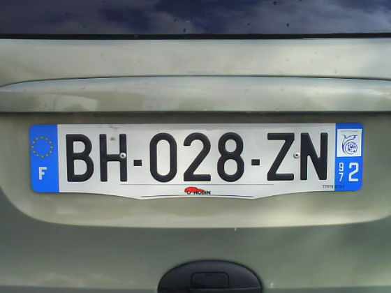 martinique licence plate