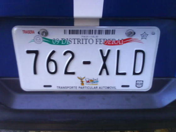 mexico licence plate