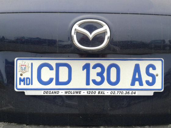 moldova licence plate