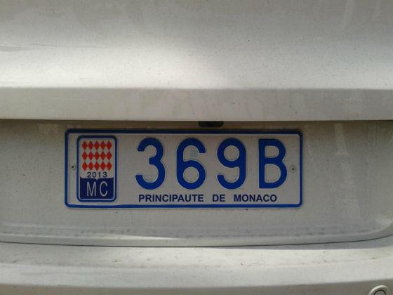 monaco licence plate