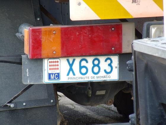 monaco license plate