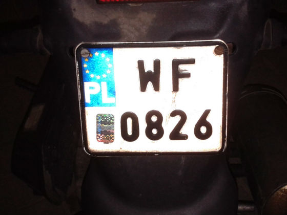 poland licence plate