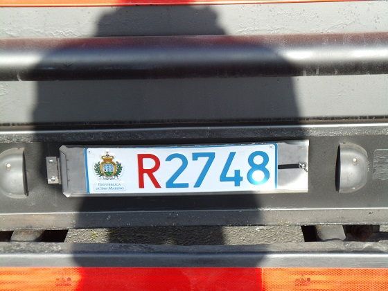 san marino license plate
