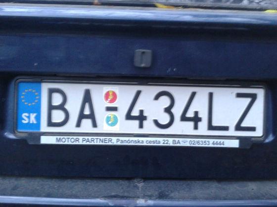 slovakia licence plate