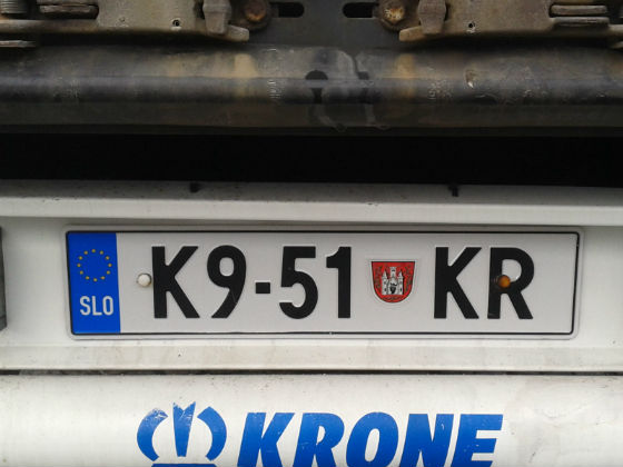 slovenia licence plate