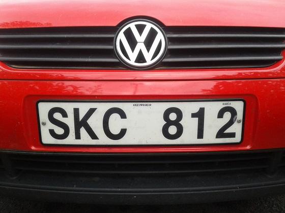 sweden license plate