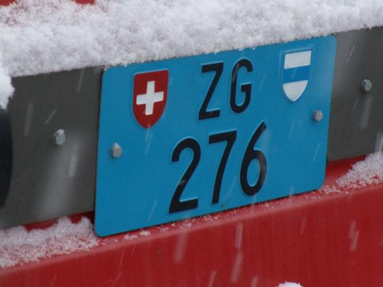 switzerland licence plate