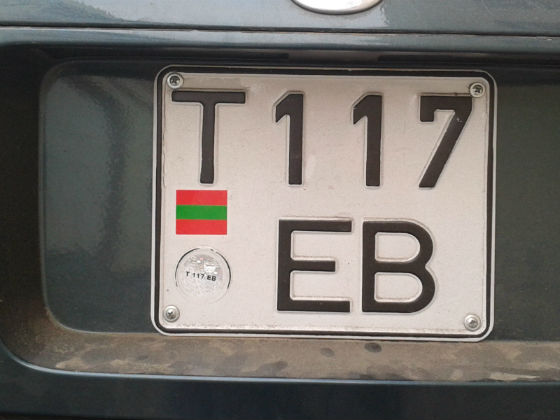 transnistria licence plate