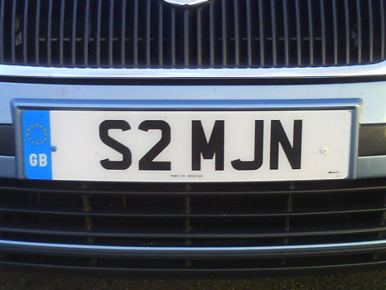 united kingdom licence plate