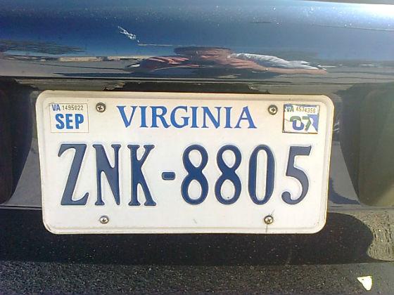 united states virginia license plate