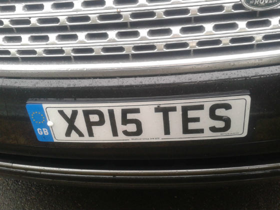 united kingdom license plate