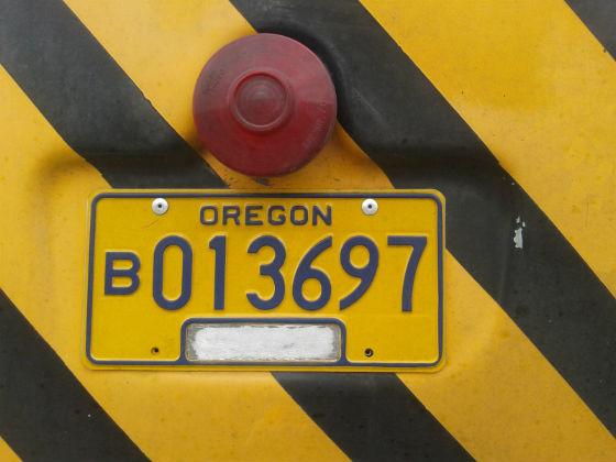 united states oregon license plate