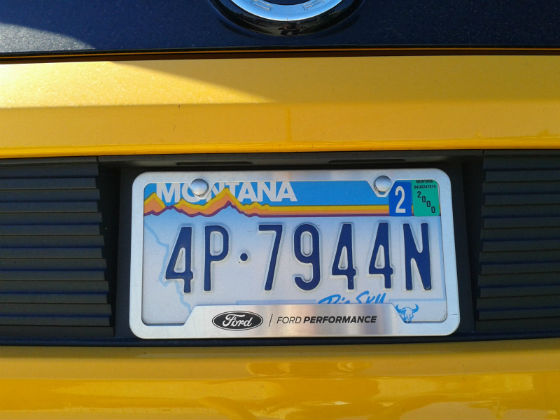 united states montana license plate